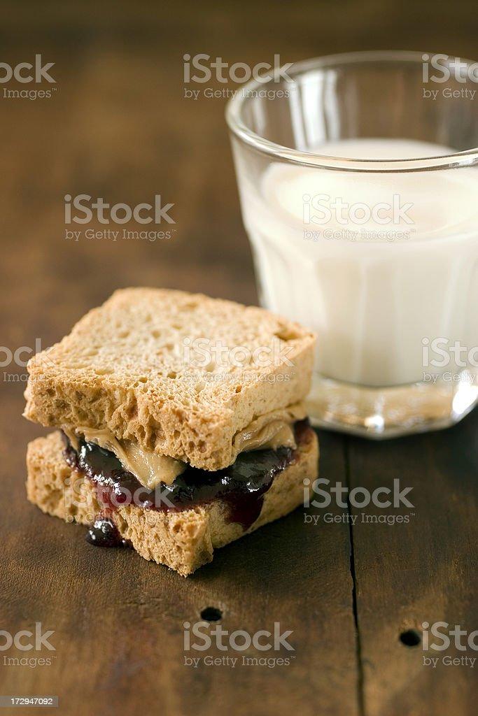 PB & J with Milk stock photo