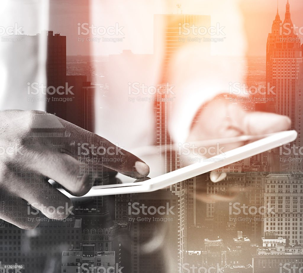 With modern technology there are more opportunities for business stock photo