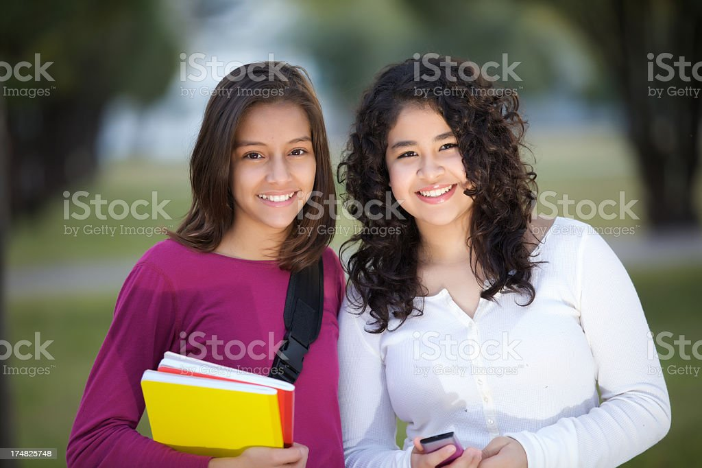 With my best friend royalty-free stock photo