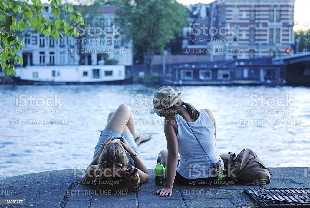 With my best friend. royalty-free stock photo