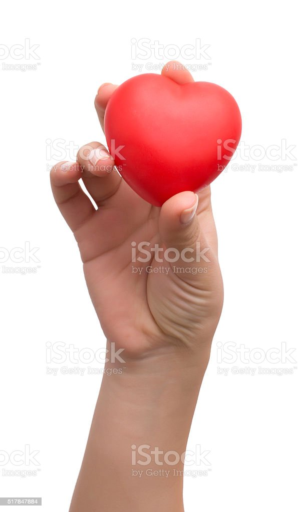 With my heart in hands stock photo