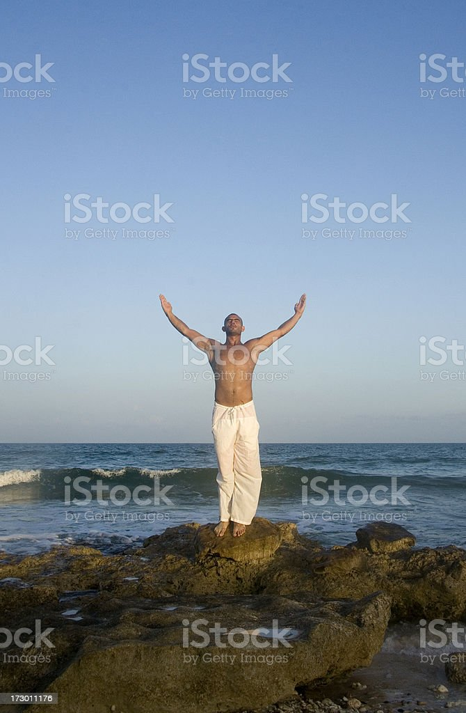 with open arms royalty-free stock photo