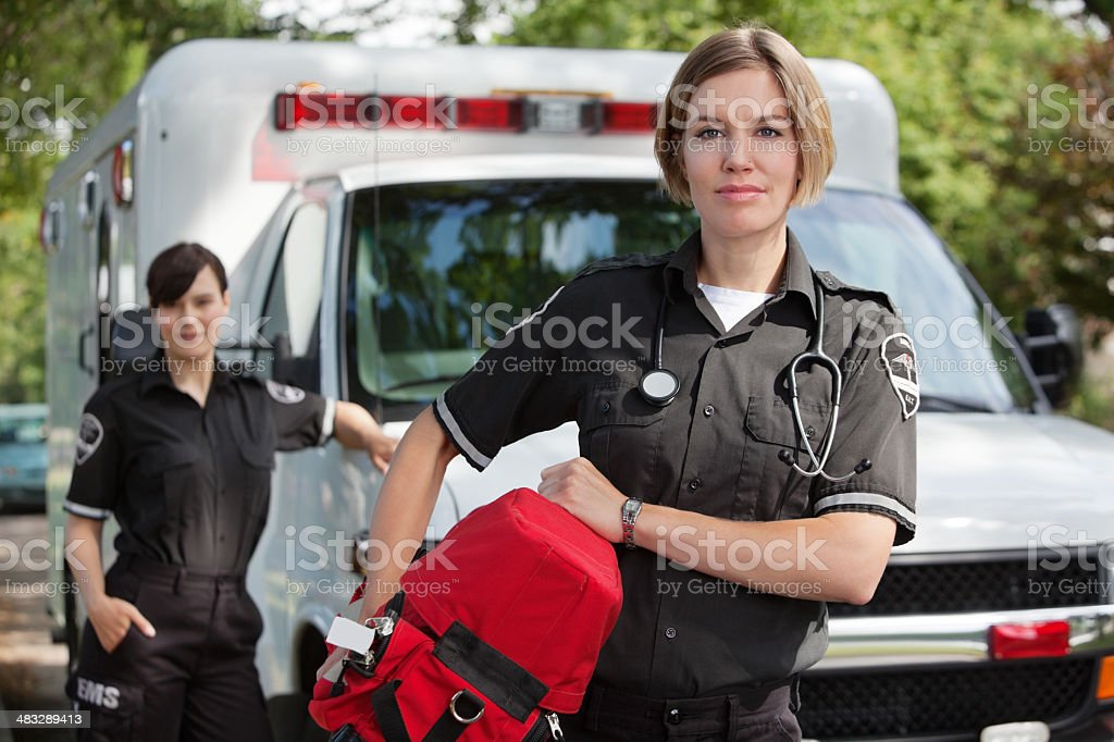 EMS with Oxygen royalty-free stock photo
