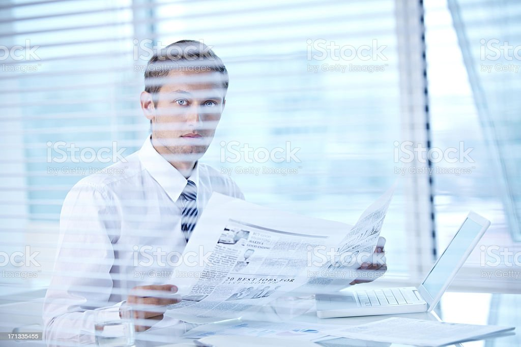 CEO with paper royalty-free stock photo