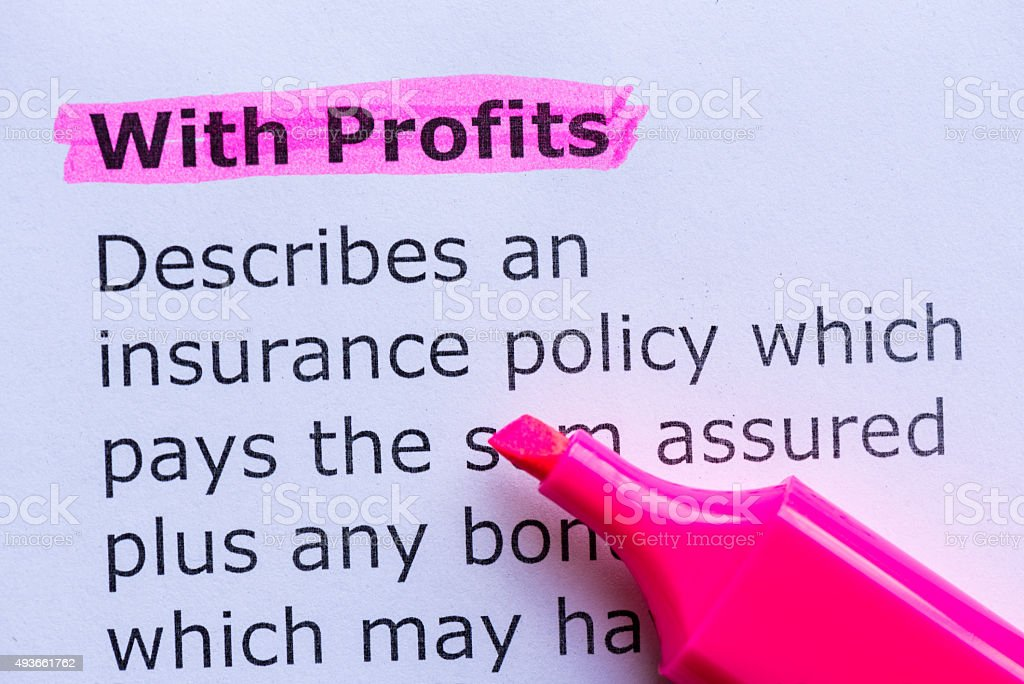 with profits stock photo
