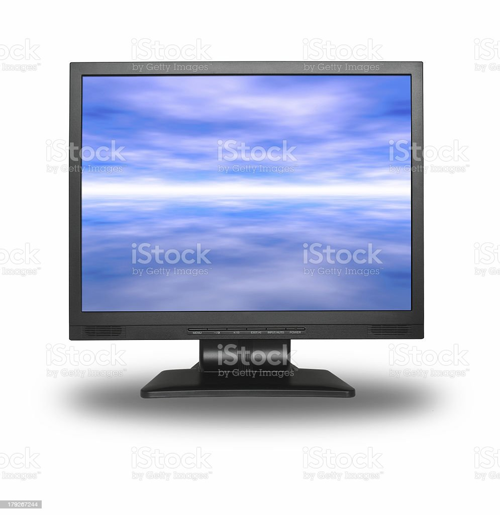 LCD with sky royalty-free stock photo