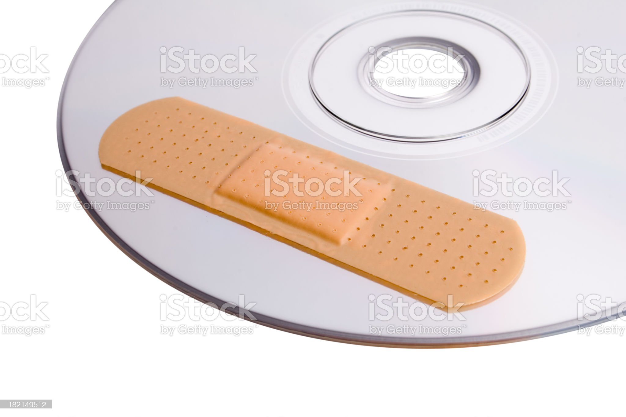 CD with software patch royalty-free stock photo