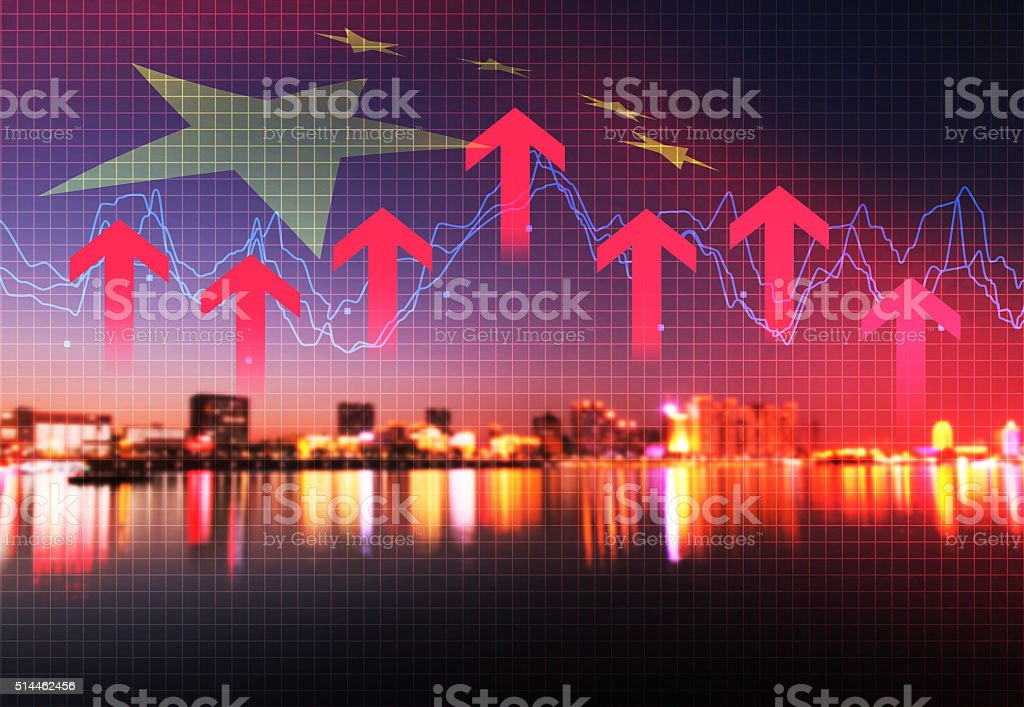 With the rapid development of urban economy and finance stock photo