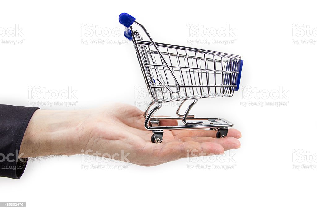 With the shopping cart stock photo