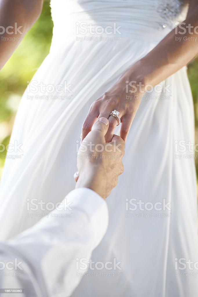 With this ring I thee wed... royalty-free stock photo