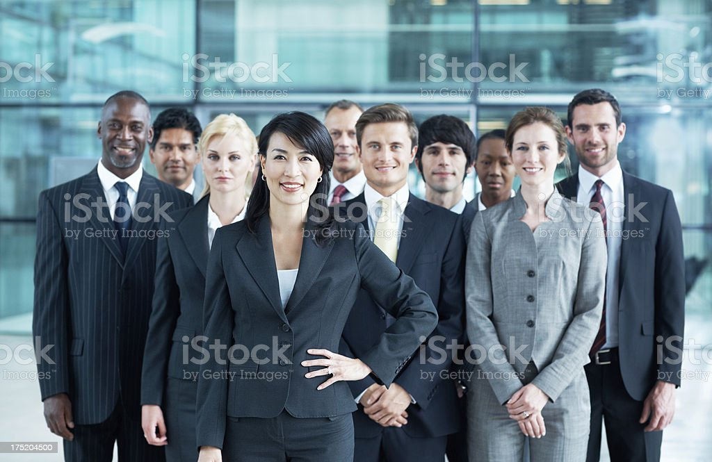 With this team behind me I can't go wrong royalty-free stock photo