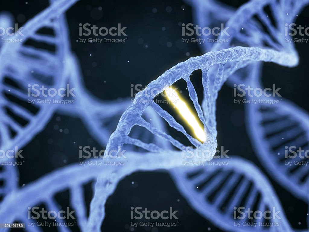 DNA with unique connection stock photo