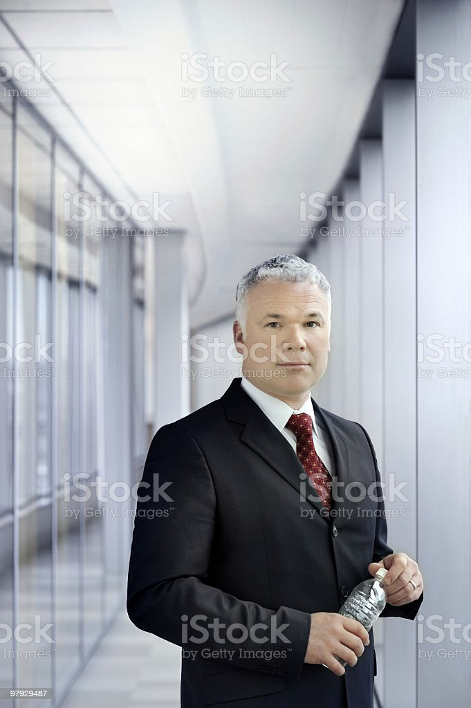 CEO with water royalty-free stock photo