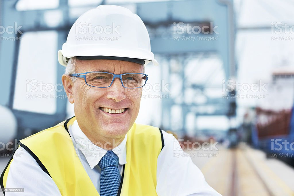With years of marine transit experience, I'm your man! stock photo