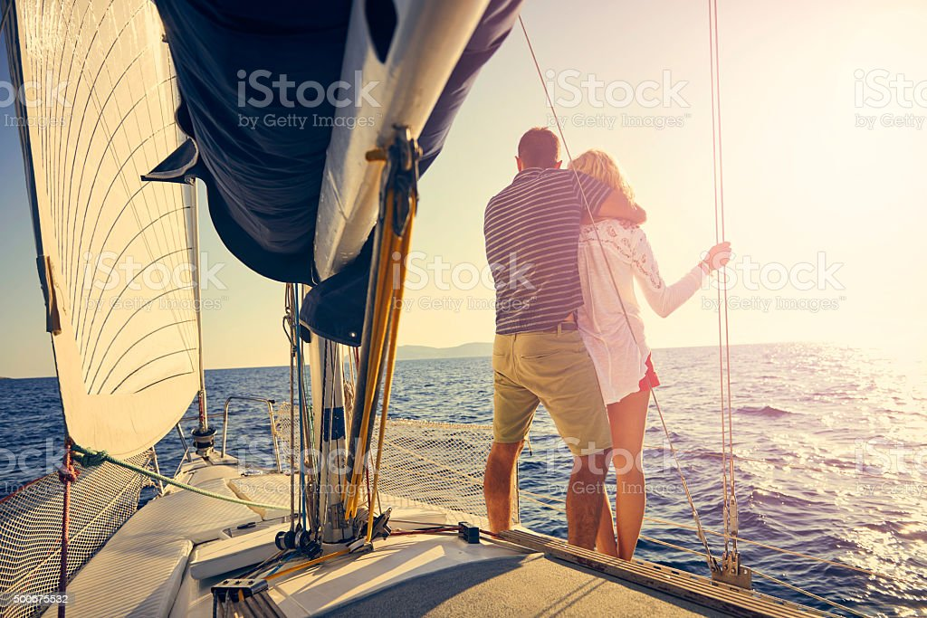 With you I'm anchored forever stock photo