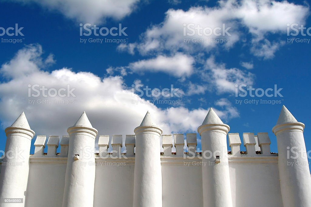 Withe castle royalty-free stock photo