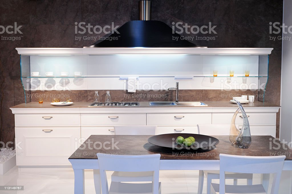 Withe Kitchen by Italy stock photo