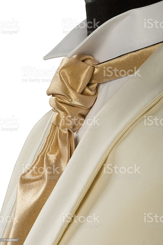 withe suit and gold tie royalty-free stock photo