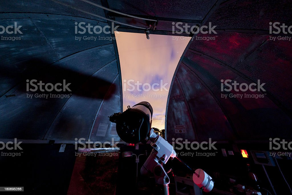 Within an observatory royalty-free stock photo