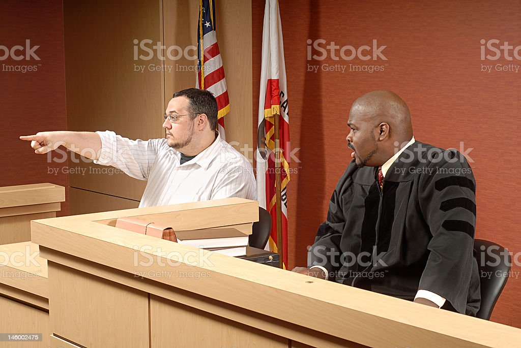 Witness at trial royalty-free stock photo