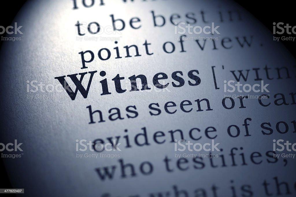 witness stock photo