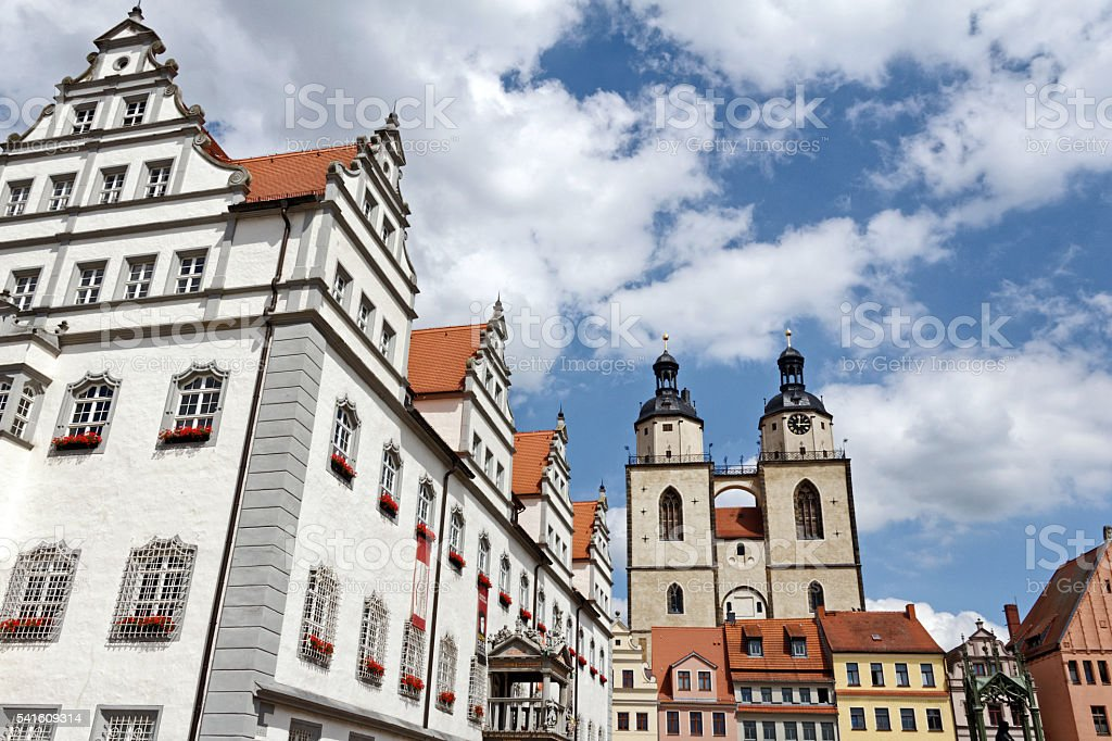 Wittenberg Lutherstadt - historical city stock photo