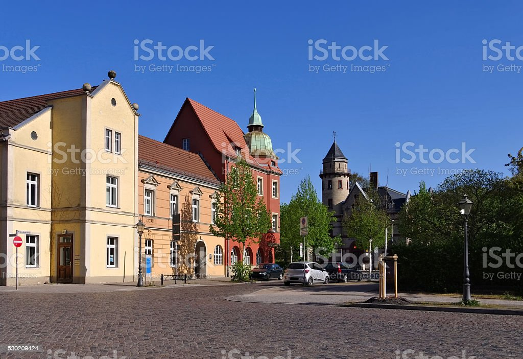 Wittenberg, the old town stock photo