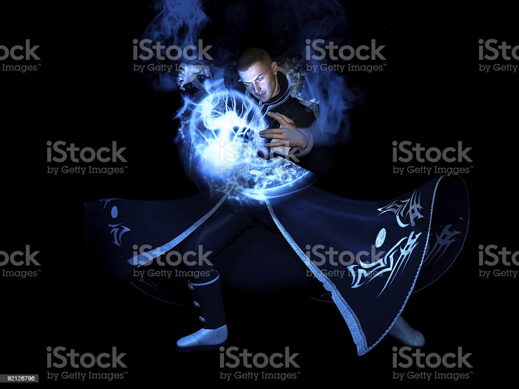 Wizard character stock photo