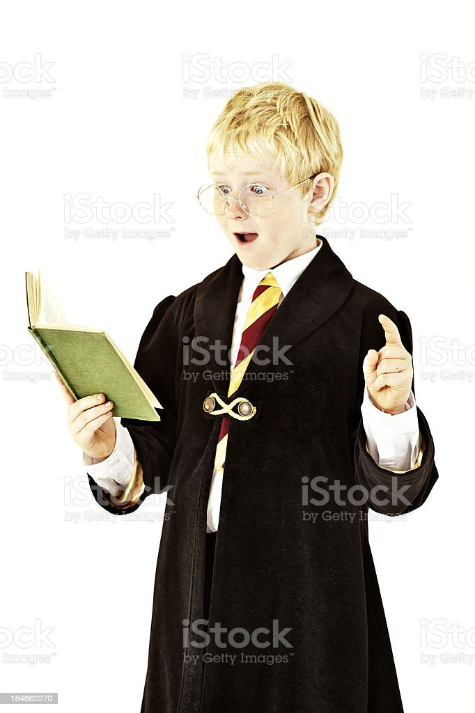 Wizard Costume Halloween Boy royalty-free stock photo