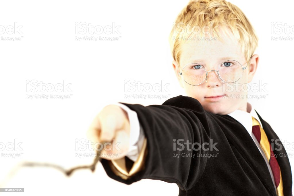 Wizard Halloween Costume stock photo