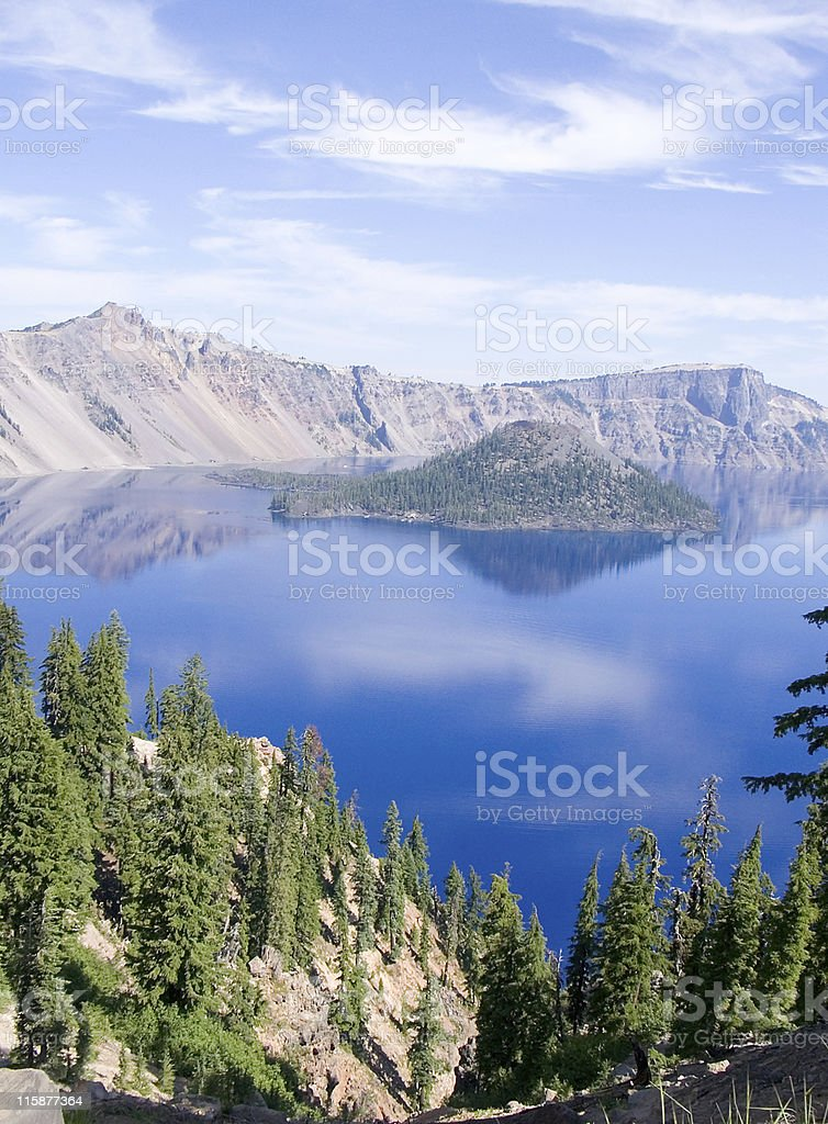 Wizard Island in Crater Lake royalty-free stock photo