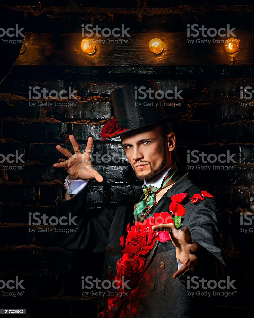 Wizard macho stock photo