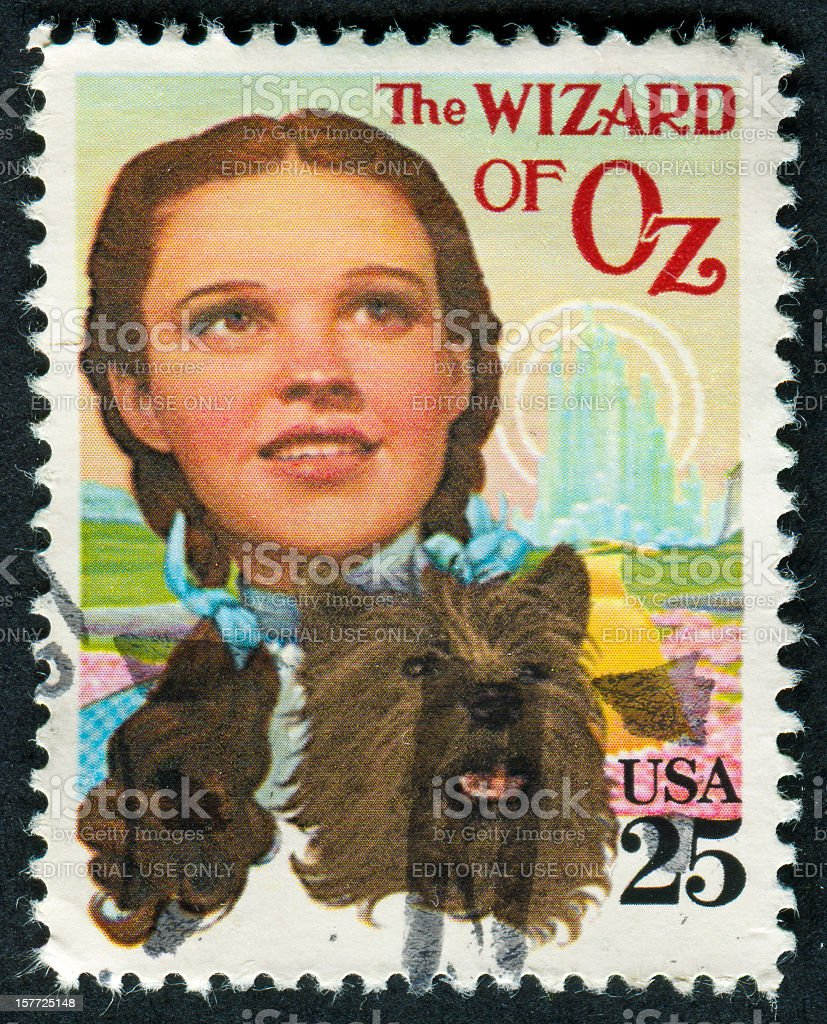 Wizard Of Oz Stamp stock photo