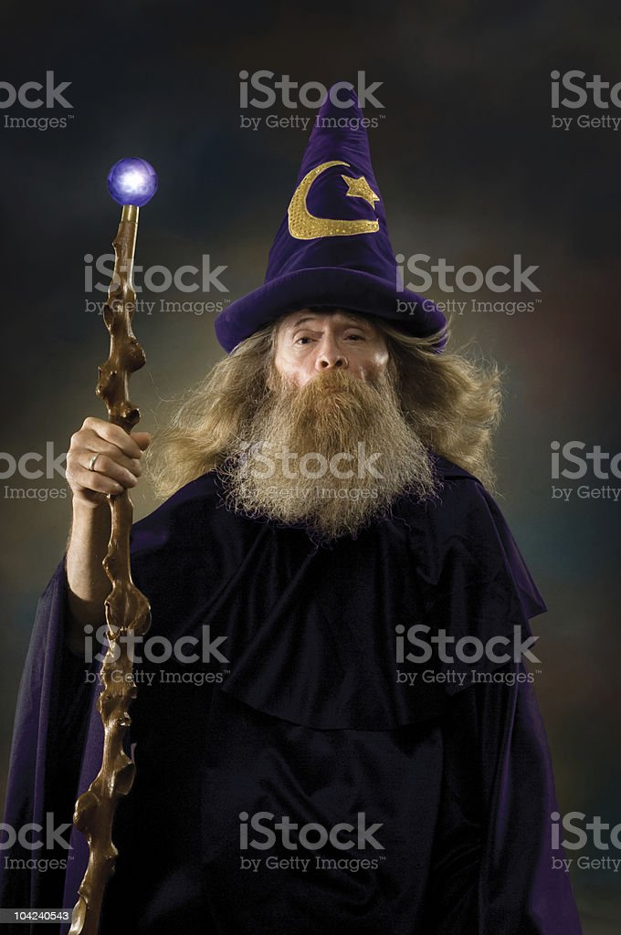 Wizard Portrait stock photo