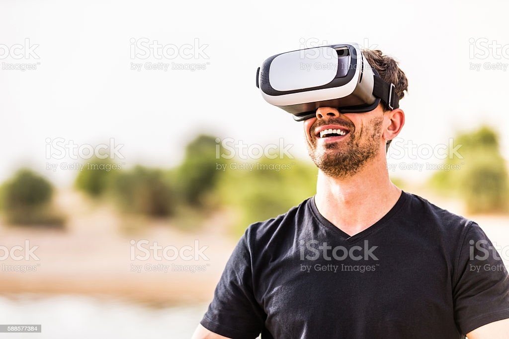 Woah, I always wanted to be an astronaut! stock photo