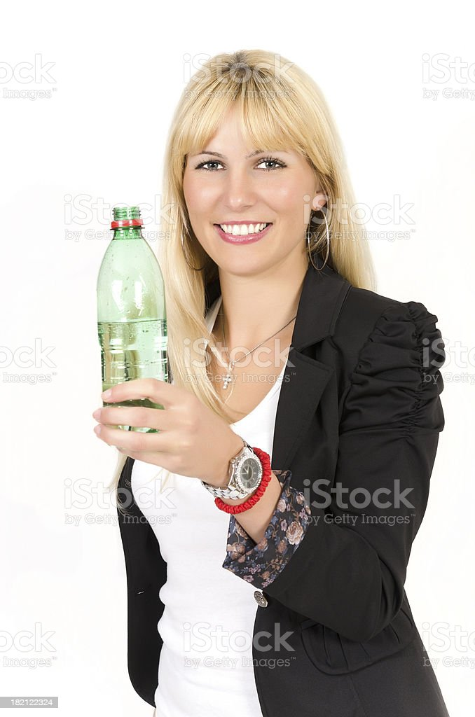 Woaman with water royalty-free stock photo