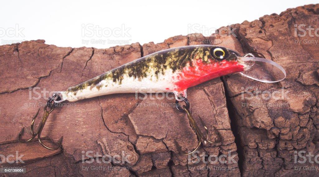Wobbler - hand made bait fishing. stock photo