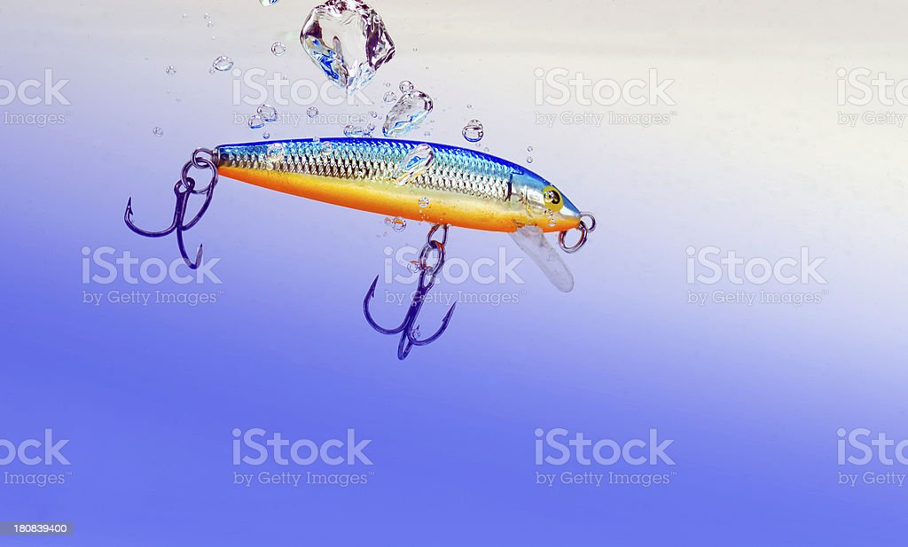 wobbler in a water stock photo