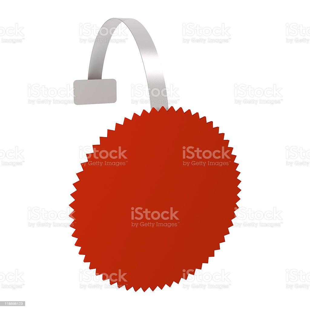 Wobbler red star stock photo