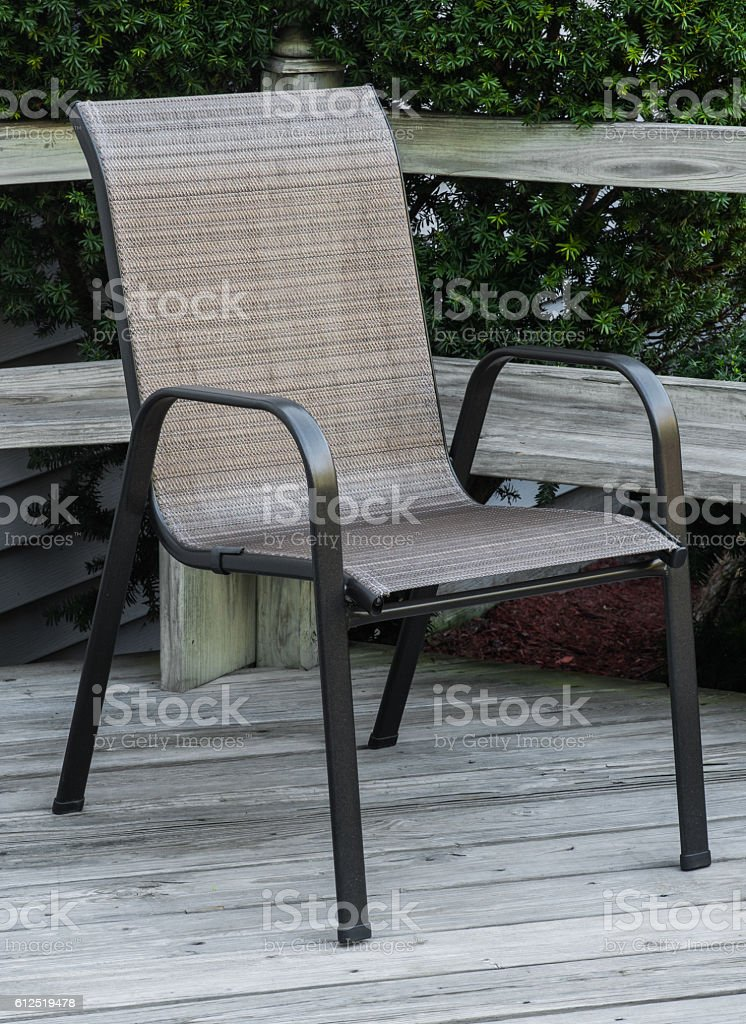 Wobbly Deck Chair stock photo
