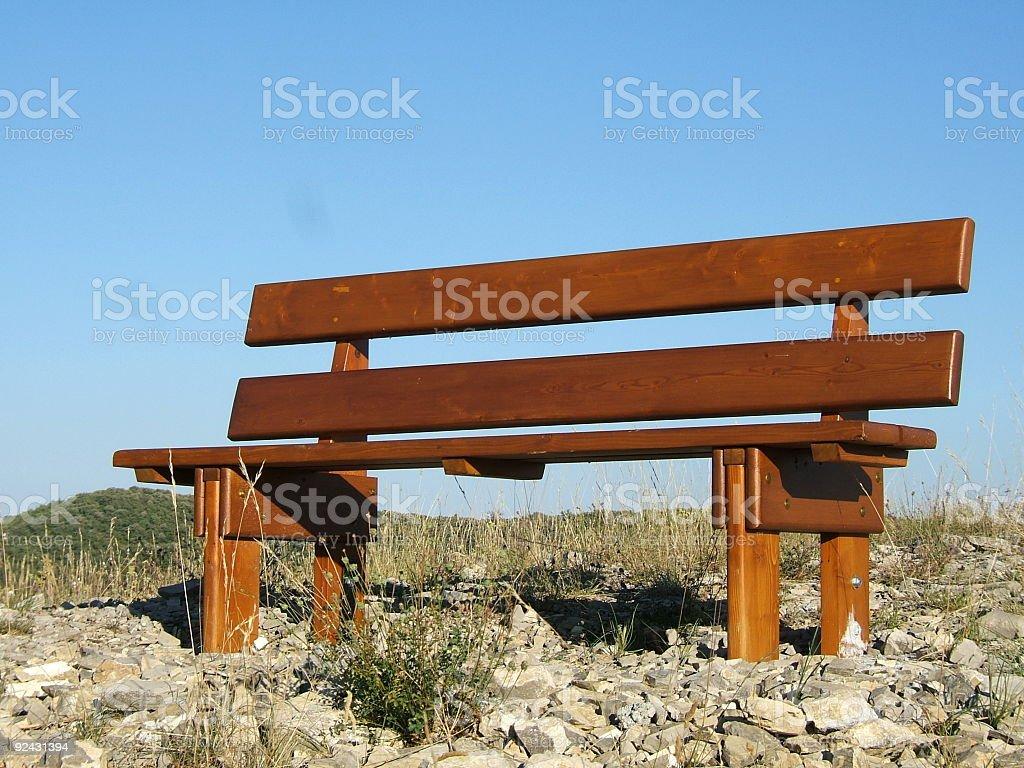 Wodden bench stock photo