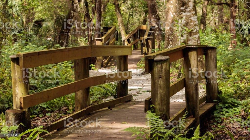 woden bridge park trail stock photo