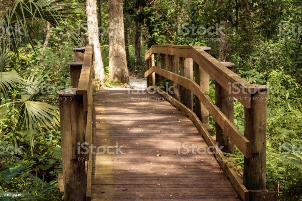 woden bridge park way crossing small spruit stock photo