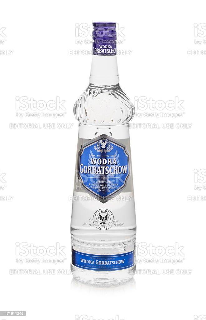 Wodka Gorbatschow Bottle isolated on white stock photo