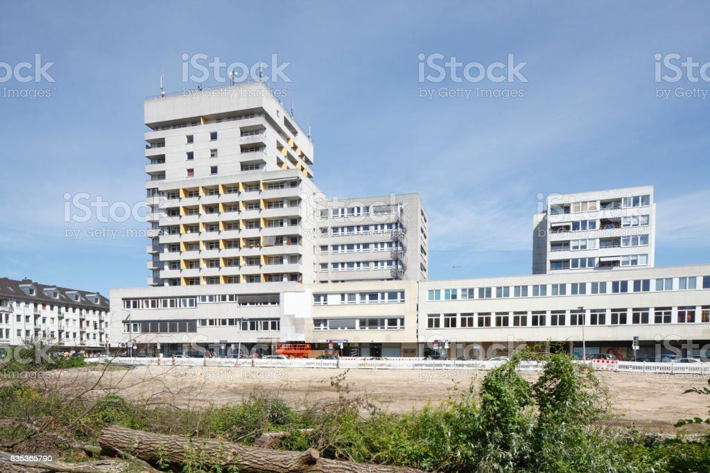 Wohnblock, Bauland, Baugrundstück stock photo