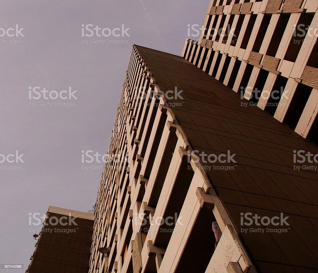 Wohnhaus Plattenbauweise royalty-free stock photo
