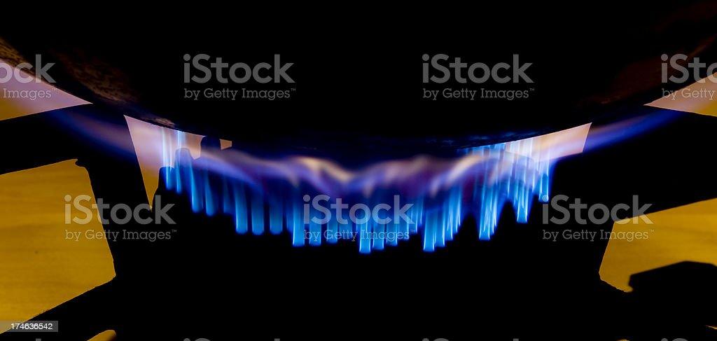 Wok burner - series two of three shots royalty-free stock photo
