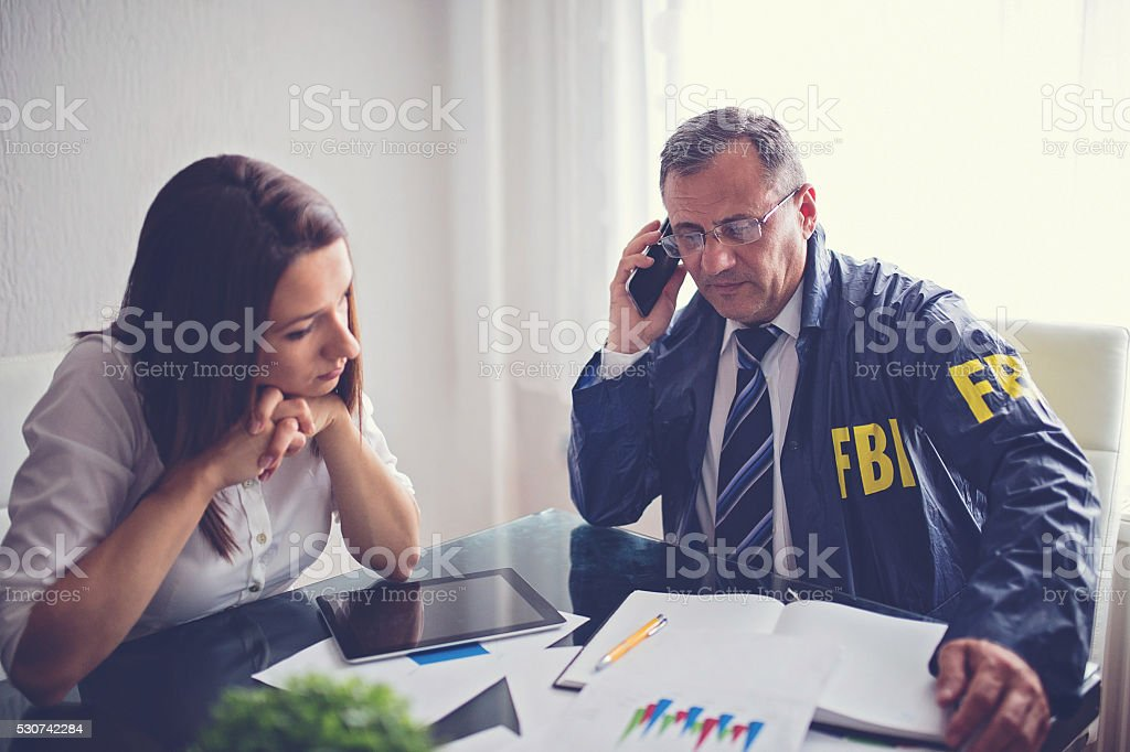 FBI woking on case stock photo