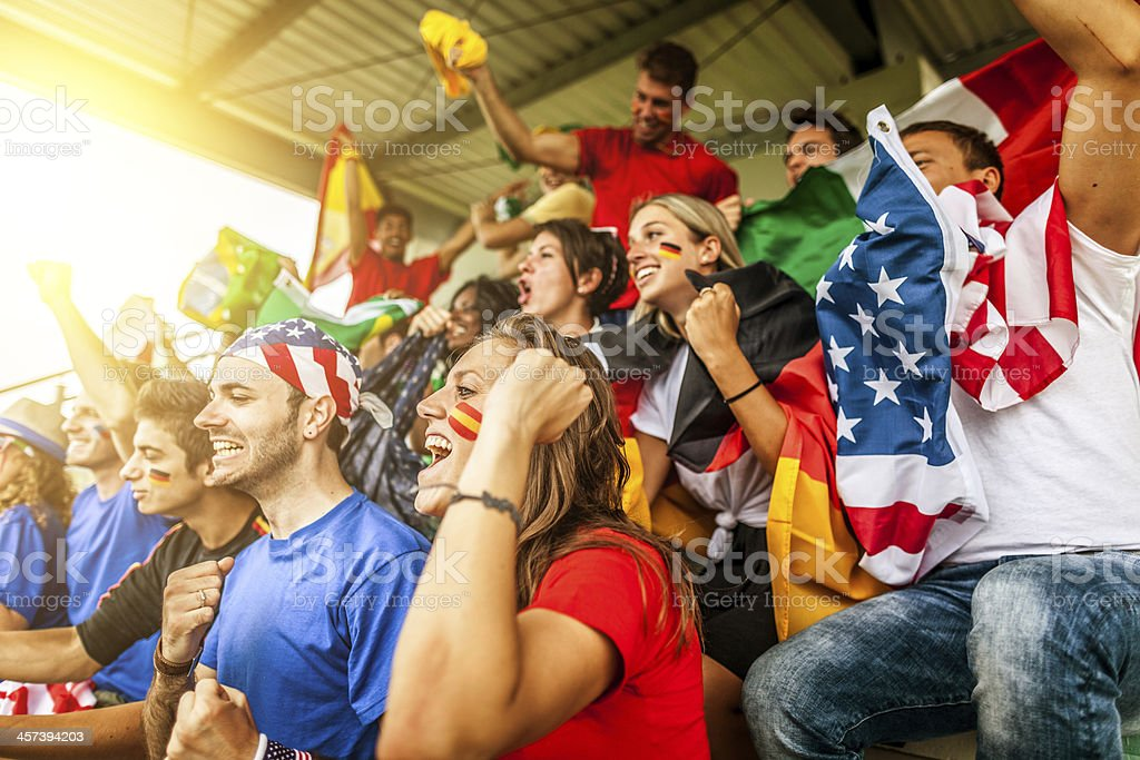 Wold championship supporters royalty-free stock photo
