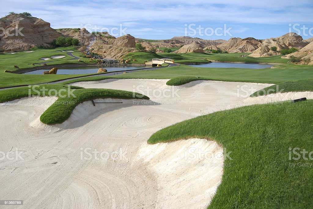 Wolf Creek Golf Course stock photo